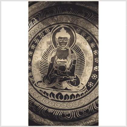 Universalklangschale Erdender Buddha 1470g Innenansicht