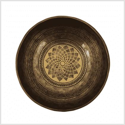 Kleine Beckenklangschale Lotus 1720g Oben