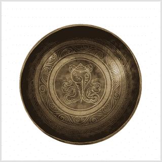 Beckenklangschale Ashtamangala 1930g 26cm Muschel Oben