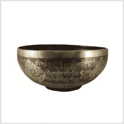 Beckenklangschale Ashtamangala 1930g 26cm Muschel Seitenansicht