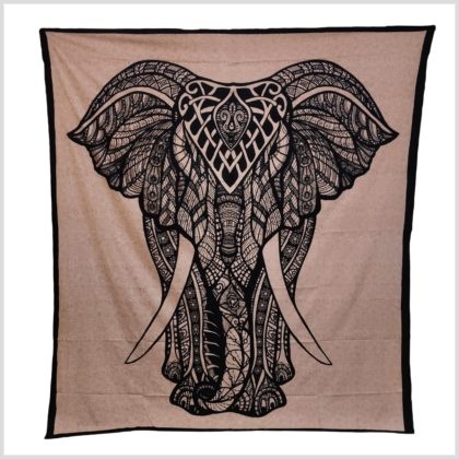 Wandbehang Wandtuch Elefant BEige