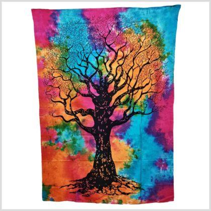 Wandbehang Lebensbaum bunt