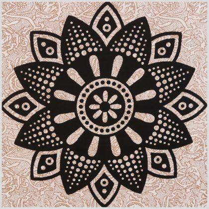 Mandala Wandbehang Wandtuch Mandala Beige Nah