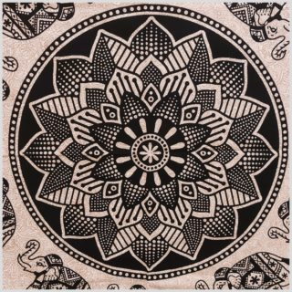 Mandala Wandbehang Wandtuch Mandala Beige nahansicht
