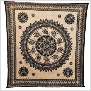 Mandala Wandbehang Wandtuch Mandala Beige Vollansicht