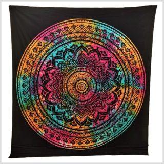 Wandtuch Mandala bunt
