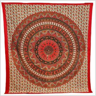 Wandtuch Mandala rot