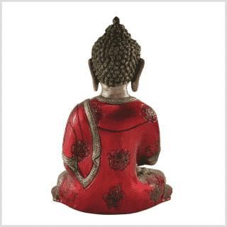 Erleuchteter Buddha feuerrot 25cm hinten