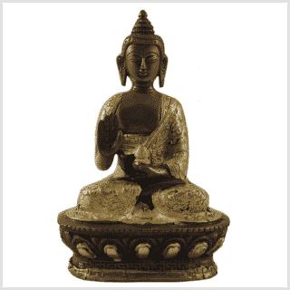 Segnender Buddha Messing Kupfer 17cm Vorderansicht