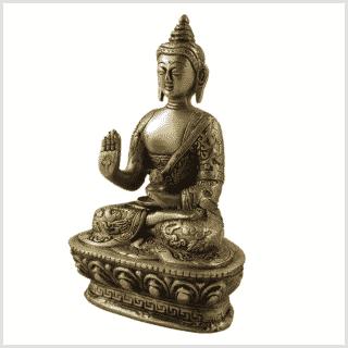 Dragonbuddha Abhaya Mudra Messing 1kg Seitenansicht
