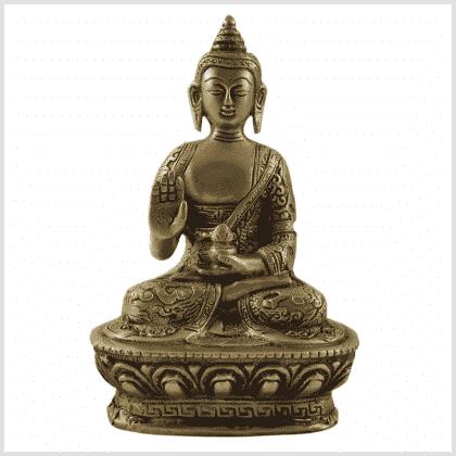 Dragonbuddha Abhaya Mudra Messing Vorderansicht 1kg