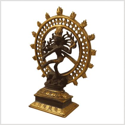 Shiva kaffeebraungold 17cm Seitenansicht