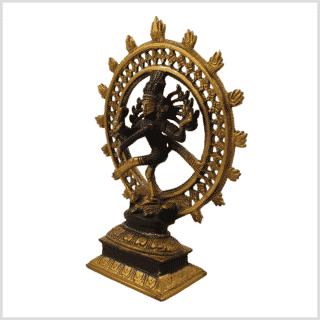 Shiva Nataraja braungold 17cm Seite links