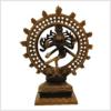 Shiva Nataraja braungold 17cm Vorderansicht