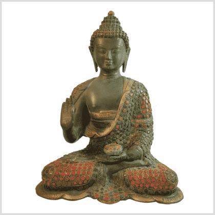 Lehrender Buddha mit Steinen Vorderansicht