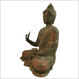 Lehrender Buddha mit Steinen Seite Links