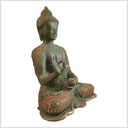 Lehrender Buddha mit Steinen Seite rechts