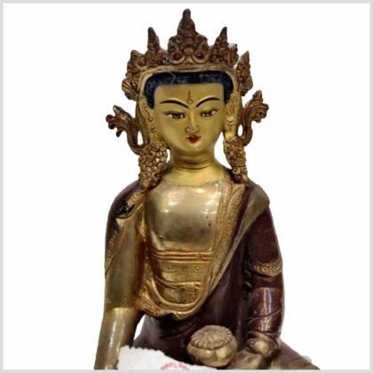 Erdender Buddha 25cm Original aus Nepal Nahansicht