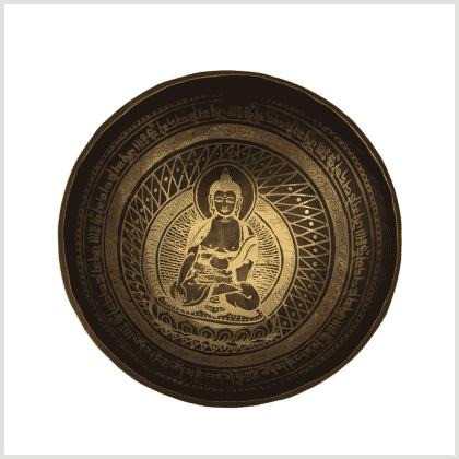 Beckenklangschale Erdender Buddha 1920g Oben