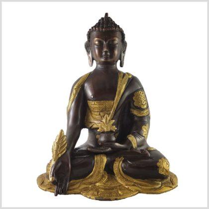 Medizinbuddha 25cm Ashtamangala Messing Kupfer