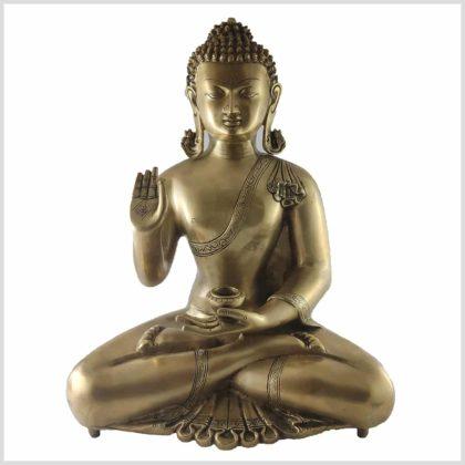 Lehrender Buddha Messing Kundal 11kg Vorne