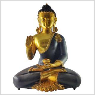 Lehrender Buddha Messing braungold Kundal 11kg Vorne