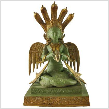 Nag Kanya Schlangengöttin Messing mintgrün 6kg 32cm 1