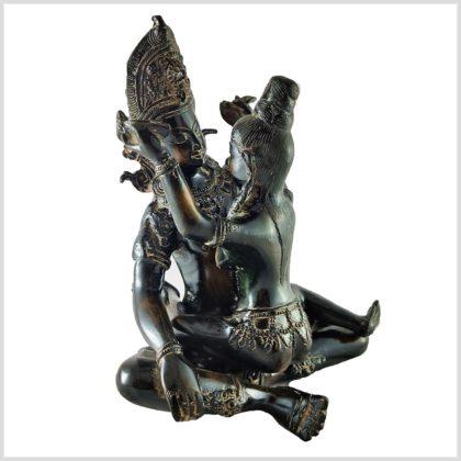 Shakti Yab-Yum Statue braungrün Pattina Vorne