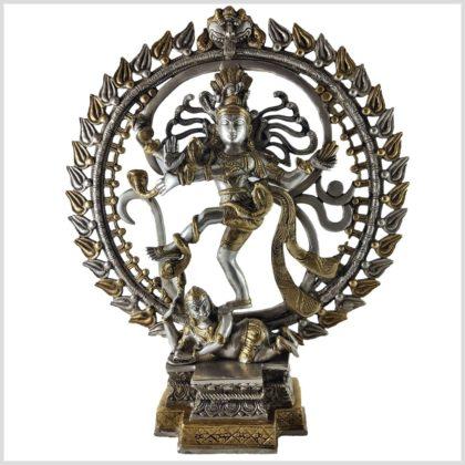 Tanzender Shiva 43cm Silber