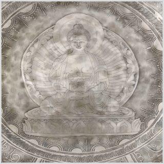 Fußklangschale Buddha Feine Reliefarbeit 9,5kg Buddha