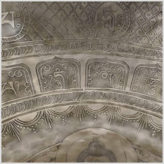 Fußklangschale Buddha Feine Reliefarbeit 9,5kg Kopf