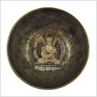 Erleuchteter Buddha Nepalklangschale 612g Innenansicht