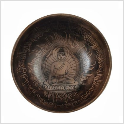 Halschakra Klangschale Erdender Buddha 497g