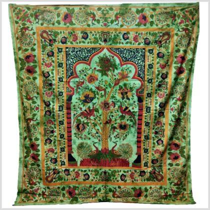 Wandtuch Lebensbaum grün