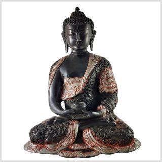 Erleuchteter Buddha 6kg schwarzgold vorne