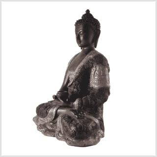 Erleuchteter Buddha 6kg schwarzgold links