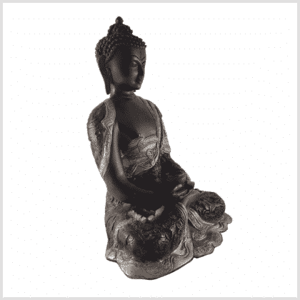 Erleuchteter Buddha 6kg schwarzgold rechts