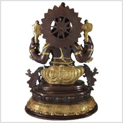 Ganesha 38,5cm Messing Kupfer hinten
