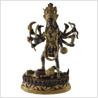 Kali stehend auf Shiva 5kg 37cm Messing Kupfer
