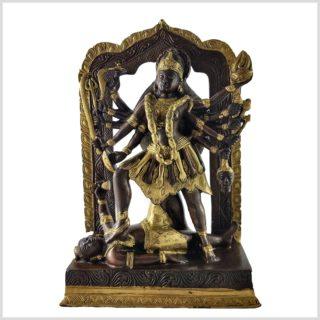 Kali stehend auf Podest 5.7kg Messing Kupfer
