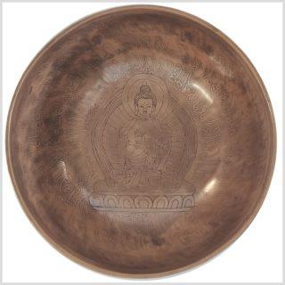 Herzchakra Klangschale Dharmachakra Buddha 1362g Oben