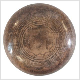 Herzchakra Klangschale Dharmachakra Buddha 1362g Unten