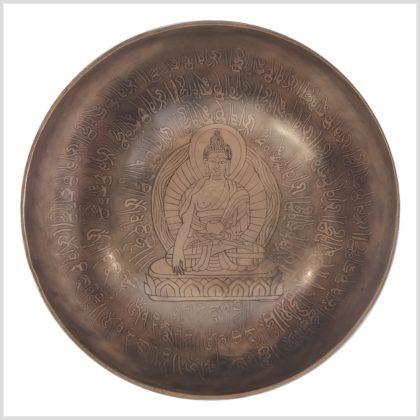 Herzchakra Klangschale Erdender Buddha 1395g Oben