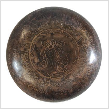 Herzchakra Klangschale Erdender Buddha 1395g Unten