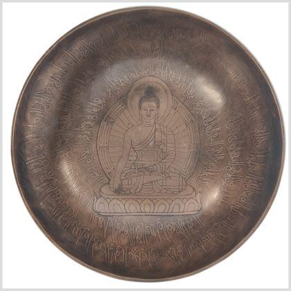 Herzchakra Klangschale Erdender Buddha 1528g Oben