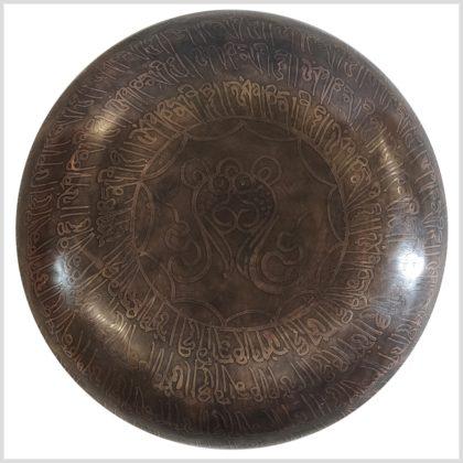 Herzchakra Klangschale Erdender Buddha 1528g Unten