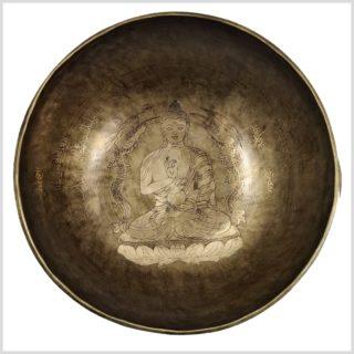 Solarplexus Klangschale Dragon Buddha 1850g Oben