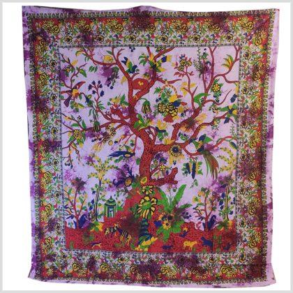 Wandbehang Lebensbaum violett