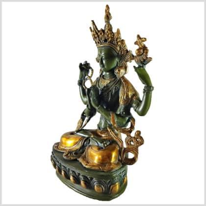 Avalokiteshvara 3,5kg antikgrün Seite links