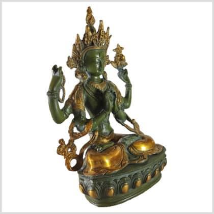 Avalokiteshvara 3,5kg antikgrün Seite rechts